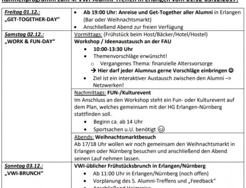 4. VWI-Alumni Treffen in Erlangen