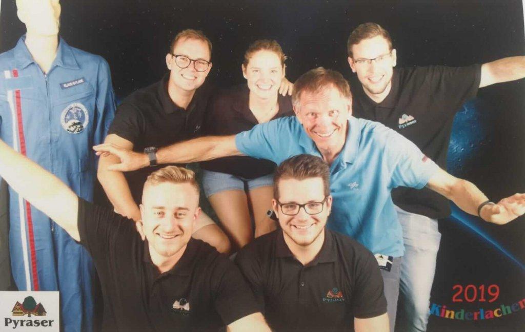 hinten: Thomas Ritter, Ina Schäfer, Volker Hagen; vorne Christoph Kern und Andreas Pfeffer