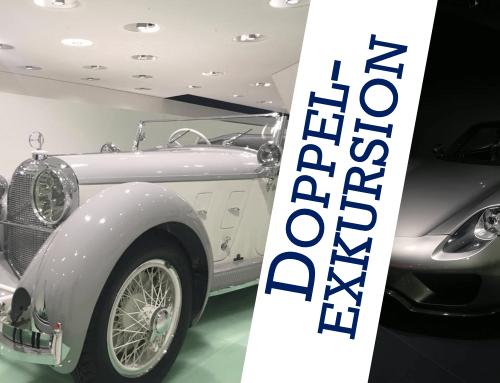 Doppelexkursion ins Porsche-Museum und zu Daimler
